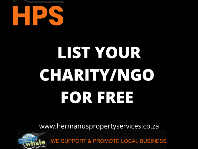LIST YOUR LOCAL CHARITY FOR FREE WITH HPS