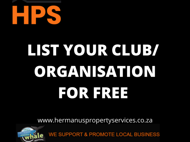 LIST YOUR LOCAL CLUB/ORGANISATION FOR FREE WITH HPS