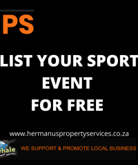 LIST YOUR LOCAL SPORT EVENT FOR FREE WITH HPS